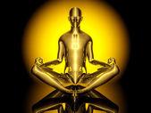 Pose de ioga meditação — Foto Stock