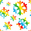 Happy christmas pattern with rainbow snow — Stock Photo