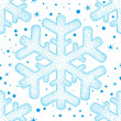 Christmas pattern with snow, vector. — Stock Photo