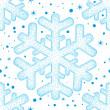 шаблон Рождественский снег, вектор — Стоковое фото