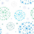 Christmas pattern with snow, vector. — Foto Stock