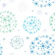 Christmas pattern with snow, vector. — Stockfoto