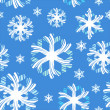 Christmas pattern with graphic christmas snow, vector. — Stock Photo