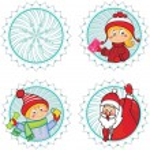 Christmas happy icons . — Stock Vector #4424831