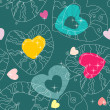 Valentine pattern with love hearts , vector. — Stock Vector #8699999
