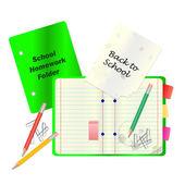 Back to School Concept Vector — Stock Vector
