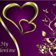 Stock Vector: A vector valentines background
