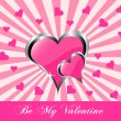 A vector valentines background — Stock Vector