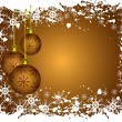 Abstract gold christmas baubles background — Stock Vector