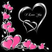 Bir vektör sevgililer arka plan — Stok Vektör