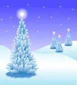 Abstract winter vector background scene — Cтоковый вектор