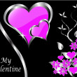 A vector valentines background - Stock Vector