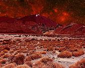 Red Alien landscape — Stock Photo