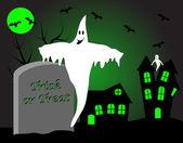Ilustración de vector de halloween — Vector de stock