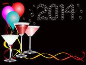новый год 2014 пузыри фона — Cтоковый вектор
