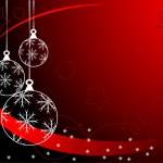 sfondo di palline di Natale rosso — Vettoriale Stock  #4237454