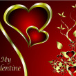 A vector valentines background — Stock Vector #4895270