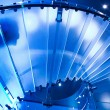 Futuristic glass spiral staircase — Stock Photo