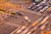 The trajectory of the road intersection at night — Stock Photo