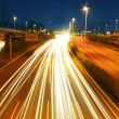 Car lights trails — Stock Photo #12830854