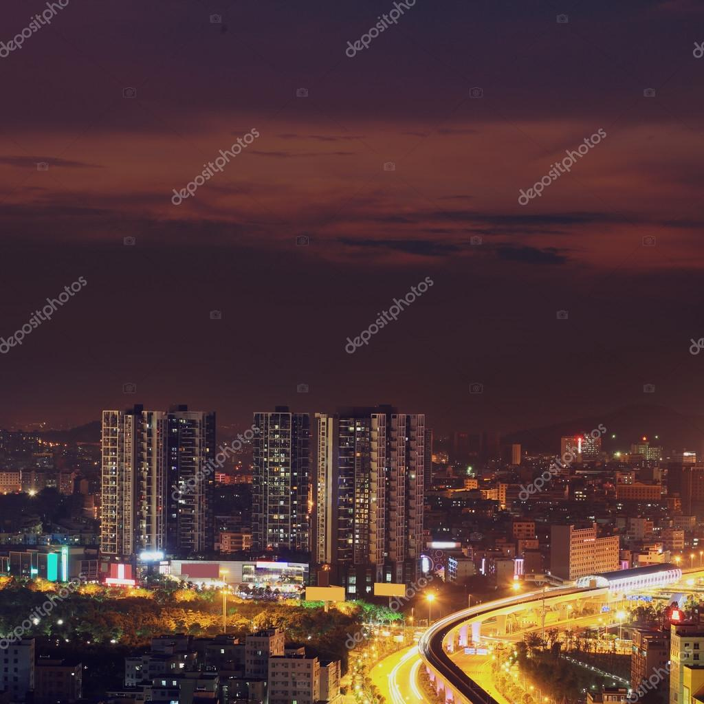 Night view of  the modern city — Stock Photo #13333539