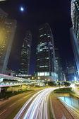 Hong Kong bussines center at sunrise — Stock fotografie