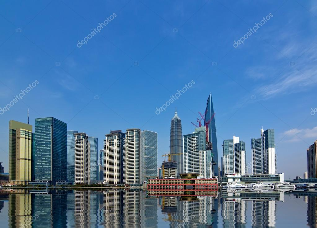 Modern city,shanghai skyline in daytime — Stock Photo #13631723