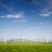 Wind power generation — Stock Photo
