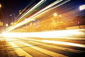 Fast moving cars — Foto de Stock