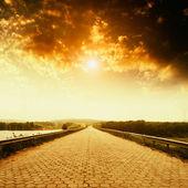 Empty asphalt road — Stock Photo