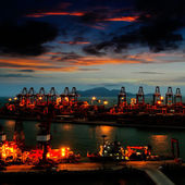 Harbor at night — Stock Photo