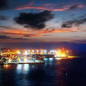 Harbor at night — Stock Photo