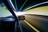 Snabba bilar i tunneln — Stockfoto