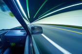 Fast cars in tunnel — Stock fotografie