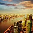 Stock Photo: Shanghai pudong skyline at sunset