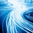 The light trails on the steet — Stock Photo