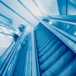 Escalator in modern office building — Stock Photo