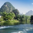 Beautiful Yu Long river Karst mountain landscape — Stock Photo