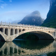 Stock Photo: Li river karst mountain landscape
