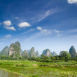 Stock Photo: Typical landscape in Yangshuo Guilin, China