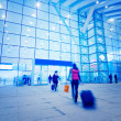 Passengers motion blur — Stock Photo