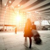 Passagiers bewegings-onscherpte — Stockfoto
