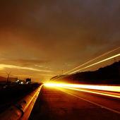 Highway at nigh — Stock Photo