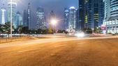 Light trails on shanghai — Stock Photo