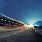 Highway at nigh — Stock Photo