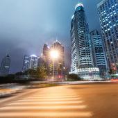 光迹上上海 — 图库照片