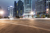 Light trails on shanghai — Photo