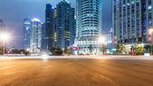 Light trails on shanghai — Stockfoto