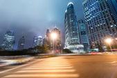 Senderos de luz en shangai — Foto de Stock