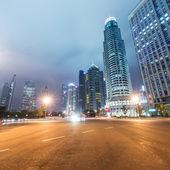 легкие трассы на шанхай — Стоковое фото
